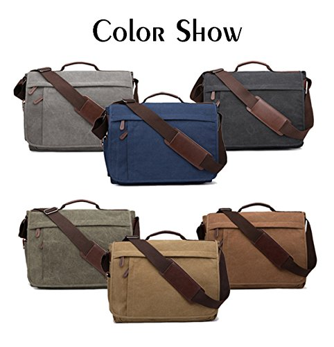 Messenger Work Men by Women Kaffee Inch Bags Business Sport Bag Bag 17 Canvas Mens 14 Shoulder Niceeday Shoulder Travel Bag Bag Bags Crossbody L Bag Laptop artwa