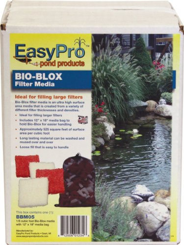 EasyPro BBM05 Bio-Blox Filter Media for Ponds, 1/3 Cubic Feet Coverage