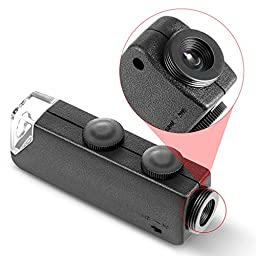 Neewer 60X-100X Optical Zoom Mobile Phone LED Microscope Lens with Universal Clamp for iPhone 7 7 Plus 6s plus 6S 6 6 Plus 5 5c 5s,Samsung Galaxy S5 G900H S4 i9500 S3 i9300 Note 2 II Note 3 Note 4