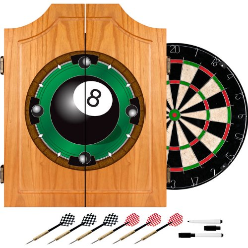 商標8-ball Dart Cabinet includesダーツとボード、ブラウン B00481O31Y