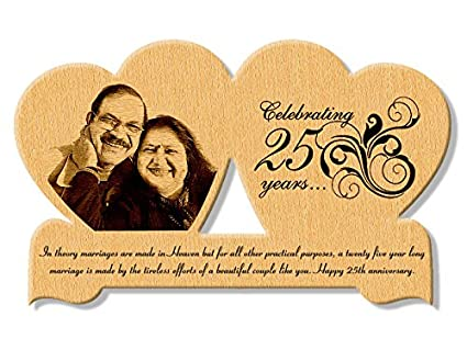 Buy Incredible Gifts India Wooden 25th Wedding Anniversary Gift