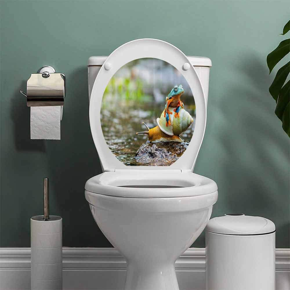 Amazon.com: Funny Sing Toilet Seat Tattoo Cover Along ...