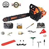 Gas Powered Chain Saw 5520G 20-Inch 55cc 2-Cycle
