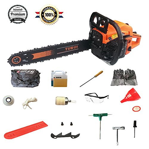 Gas Powered Chain Saw 5520G 20-Inch 55cc 2-Cycle by TURUI