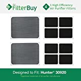 hunter purifier filters 30920 - 4 - Hunter 30920 30905 Air Purifier Replacement Filters. Designed by FilterBuy to fit Hunter Models 30050, 30055, 30065, 37065, 30075, 30080 & 30177.