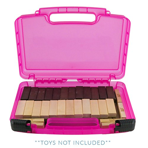 (Life Made Better Game Carrying Case, Compatible with Jenga Game (Pink))