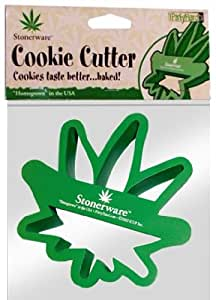 Stonerware Brand Pot Leaf Cookie Cutter :: Makes Pot leaf Shaped Cookies by Bewild