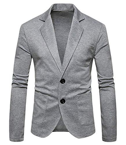 Jacket Costume manica Slim Vintage Tuxedo da Jacket da uomo Hellgrau sposa Elegante Blazer Fit lunga n8wWP