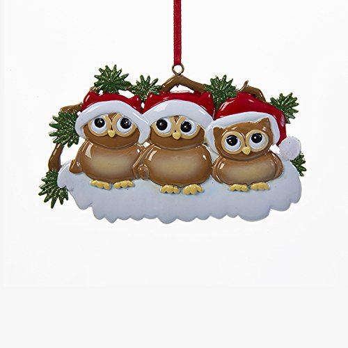 Kurt Adler Christmas Owl Family of 3 Ornament