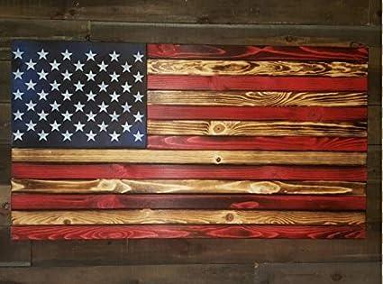 b2a9b7cccd5f San Tan Woodworks Standard Size Burnt Wood Gun Concealment American Flag.  Hand-Made
