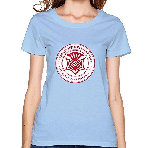 EnHui Personalized Sweetheart Carnegie Mellon University Normal Fit T-shirt Medium SkyBlue