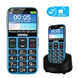 UNIWA Unlocked Cell Phone 3G Senior Cell Phone WCDMA GSM Cell Phone for Elderly People, 2.31' Curved...