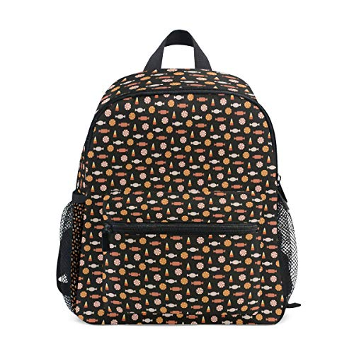 (Halloween Cute Candy Candle Colorful Cute Travel Backpacks College)
