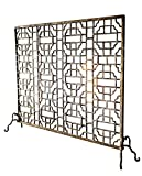 Geometric Single Panel Flat Fireplace Screen Review