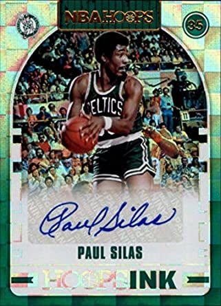 d6368d8a828 2018-19 NBA Hoops Ink Basketball  9 Paul Silas Auto Boston Celtics  Authentic Autographed