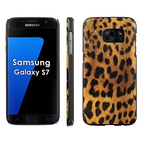 Samsung Galaxy S7 Phone Cover, Cheetah Print- BLACK Slim Clip-on Phone Case for [Samsung Galaxy S7]