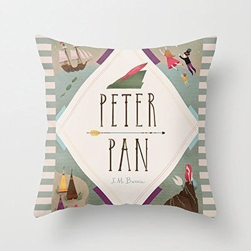 My Honey Pillow Case Peter Pan Throw Pillow Cover By Emilydovefor Your Home 18 x 18 Inches (Peter Pan Pillowcase compare prices)