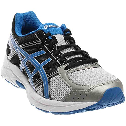 Stability Running Shoes (ASICS Men's Gel-Contend 4 Running Shoe, Silver/Classic Blue/Black, 10 M US)