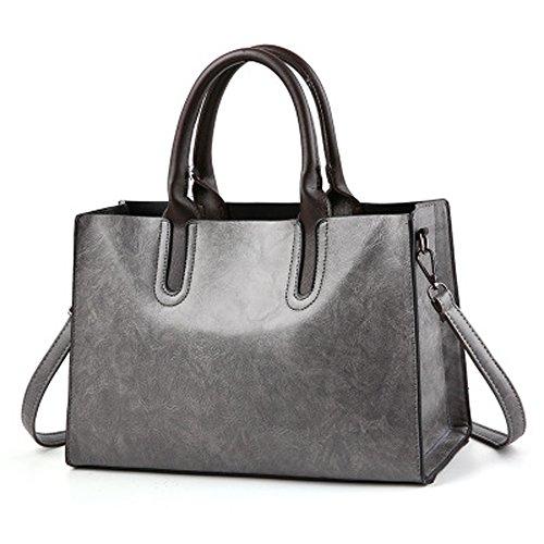 PU Women No Women handle Shoulder Top RedSwan HandBag Bag 2 Notes bag Grey Bag Leather WXZE8x