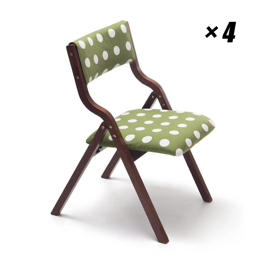 ソリッドウッド折りたたみダイニングチェアシンプルな近代的なキッチンシート家庭、カフェ、ラウンジ、会議、オフィス用48.5×46×78.5cm (色 : Brown, サイズ さいず : Set of 4) B07F38C2ZY Set of 4 Brown Brown Set of 4