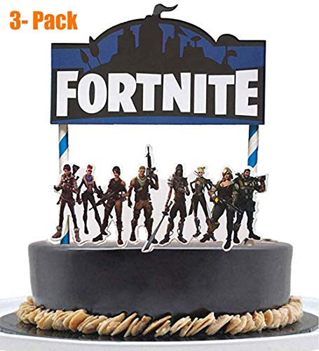 3Pcs Birthday Cake Topper Decorations Video Game Cake Topper Game party Supplies