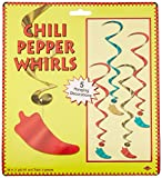 Kitchen & Housewares : Beistle 57519 5-Pack Chili Pepper Whirls, 3-Feet