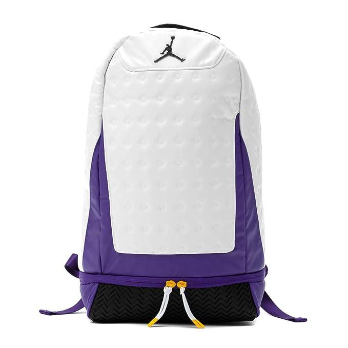 Nike Air Jordan Retro 13 Backpack (One Size, White/Purple)