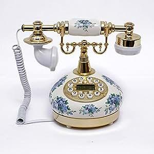 Jardín cerámica pintada estilo antiguo teléfono