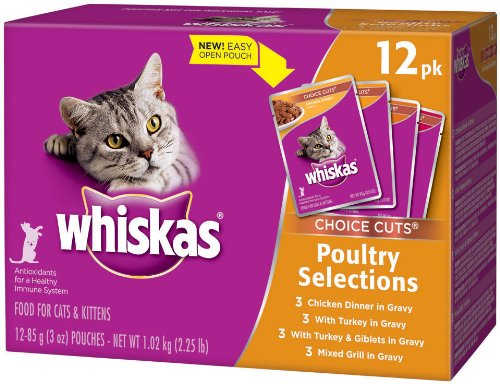 Whiskas Choice Cuts Poultry Menu Variety Pack, 2.25-Pound (Pack of 4), My Pet Supplies