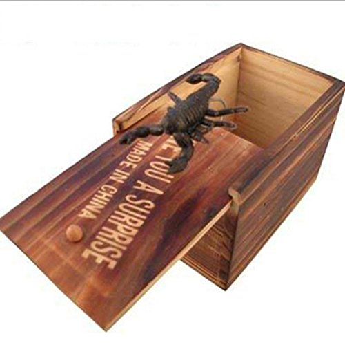 Latburg Prank Toys Harmless Best Prank Stuff Shocking Scary Surprise Wooden Box Toys for Halloween April-Fools' Day Gift Decoration Party Stage Props (1 pcs Random delivery)]()