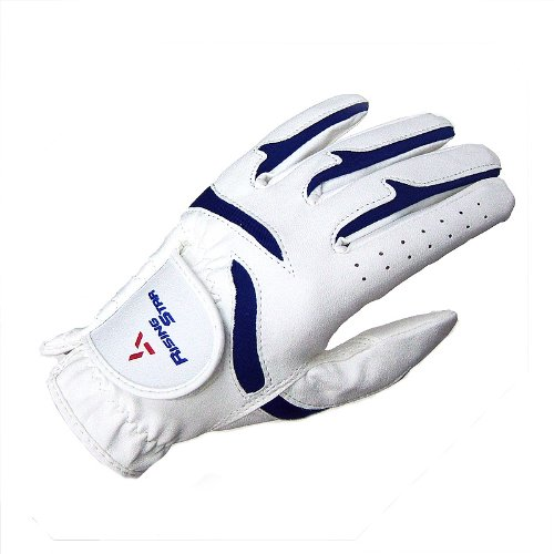 Paragon Golf Boys Rising Star Left Hand Golf Glove, White/Blue - Medium ()