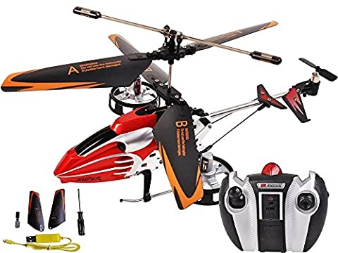 RC Remote Control Mini Helicopter RTF Toy Red (Remote Control Viking)