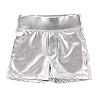 Masala Kids Girls' Little Acti-Play Shorts Silver Metallic, 2Y