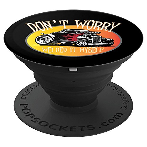 Amazon com: Funny Welded It Myself Hot Rod - PopSockets Grip and