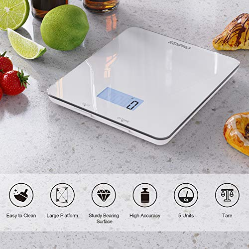 RENPHO Digital Food Scale, Kitchen Scale for Baking, Cooking and Coffee with Nutritional Calculator for Keto, Macro, Calorie and Weight Loss with Smartphone App, White 4