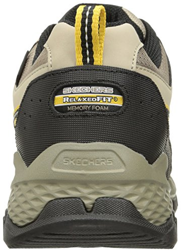 Skechers Sports Mens Mens Outland 2,0 Rip Staver Oxford Taupe / Svart