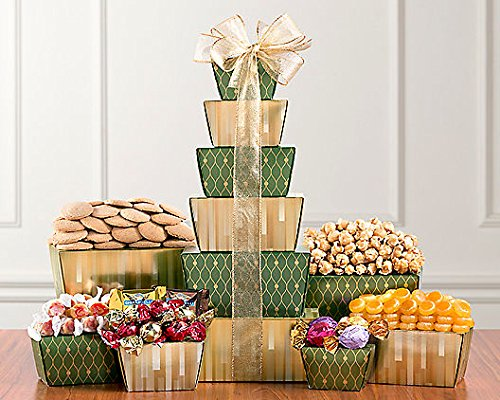 Festive Tower (Wine Country Gift Baskets Popcorn)
