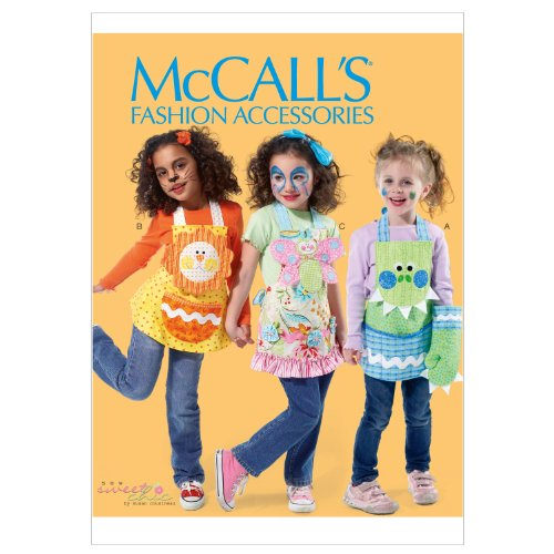 McCall Patterns M6618KID Children's Aprons, Mitts and Pot Holders Sewing Pattern