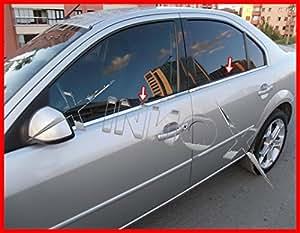 Amazon.es: Marco cromado de acero inoxidable para ventana de coche (4 unidades)