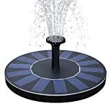 Handfly Solar Fountain Pump, 1.4W Free Standing Solar Fountain Water Pumps Panel Kit Outdoor Birdbath Watering Submersible Pump for Garden,Patio,Pond, Pool,rockery Fountain,park