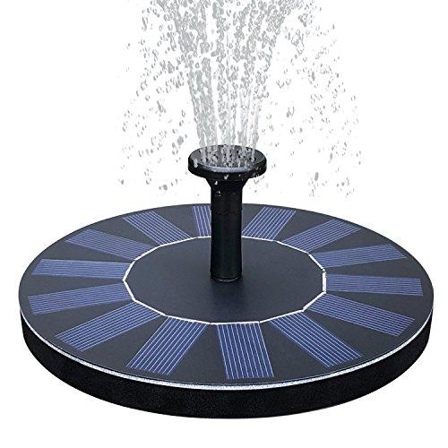Handfly Solar Fountain Pump, 1.4W Free Standing Solar Fountain Water Pumps Panel Kit Outdoor Birdbath Watering Submersible Pump for Garden,Patio,Pond, Pool,rockery Fountain,park -