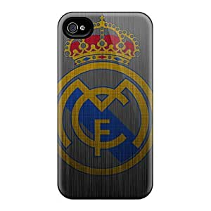 Best Hard Cell-phone Case For iphone 5c (wFu17291XzYg) Customized High Resolution Real Madrid Metal Logo Image