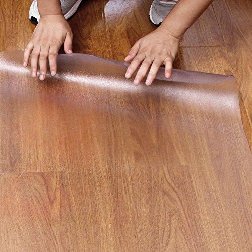 Songmics Protector antideslizante para el suelo (de PVC), traslúcido 118 x 120cm OMP221: Amazon.es: Oficina y papelería