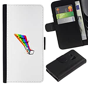 NEECELL GIFT forCITY // Billetera de cuero Caso Cubierta de protección Carcasa / Leather Wallet Case for Samsung Galaxy S3 MINI 8190 // Internet Hacer divertido WTF LOL