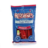 Red Vines Sugar Free Licorice Strawberry Twists 5oz Bags  (12 Pack)