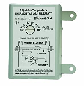 Ventamatic Xxfirestat 10 Amp Adjustable Thermostat With