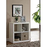 Storage Solution Better Homes and Gardens Square 4-Cube Organizer, Multiple Colors (White)