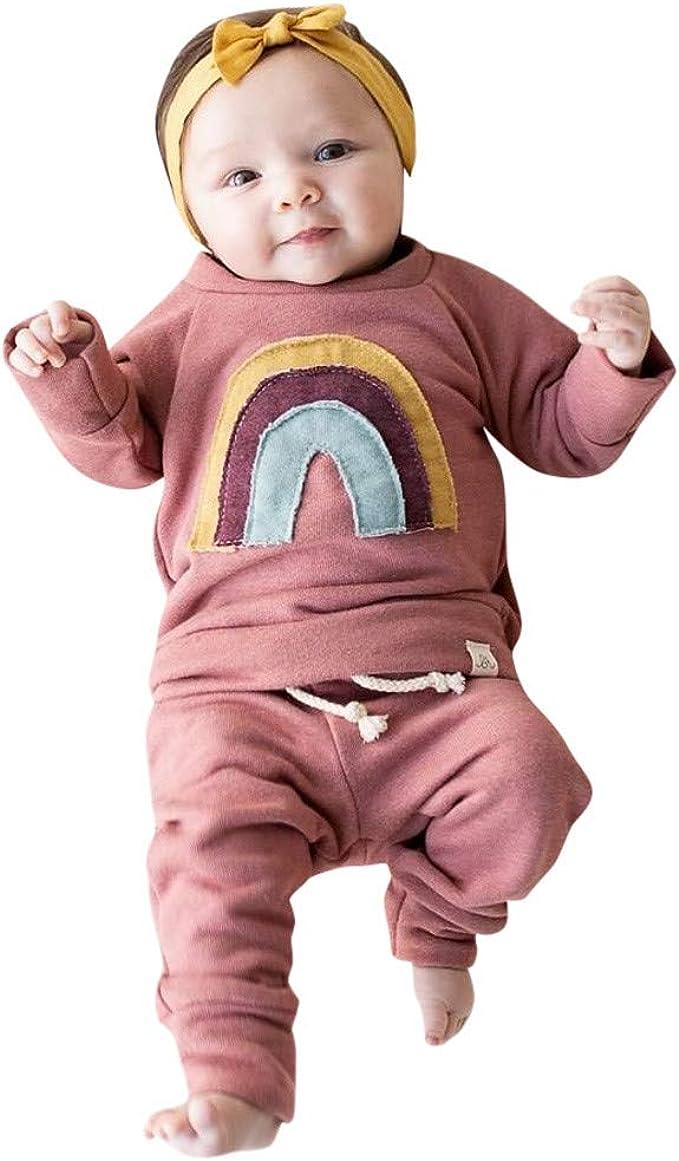 Kobay Baby M/ädchen Jungen Langarm Dot Weiche Kleinkind Kinder Tops T-Shirt Warme Kleidung