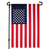 HOOSUN USA Garden Flag, American Garden Flag Embroidered Stars Classic United States Garden Flags Sewn Stripes & Double Stitched 18 x 12 Inch (USA-Embroidered Stars)