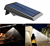 Falove Solar Lights 18 LED Outdoor Solar Gutter Motion Sensor Detector Lights Security Lighting with Dusk to Dawn Auto On/Off for Barn Porch Garage